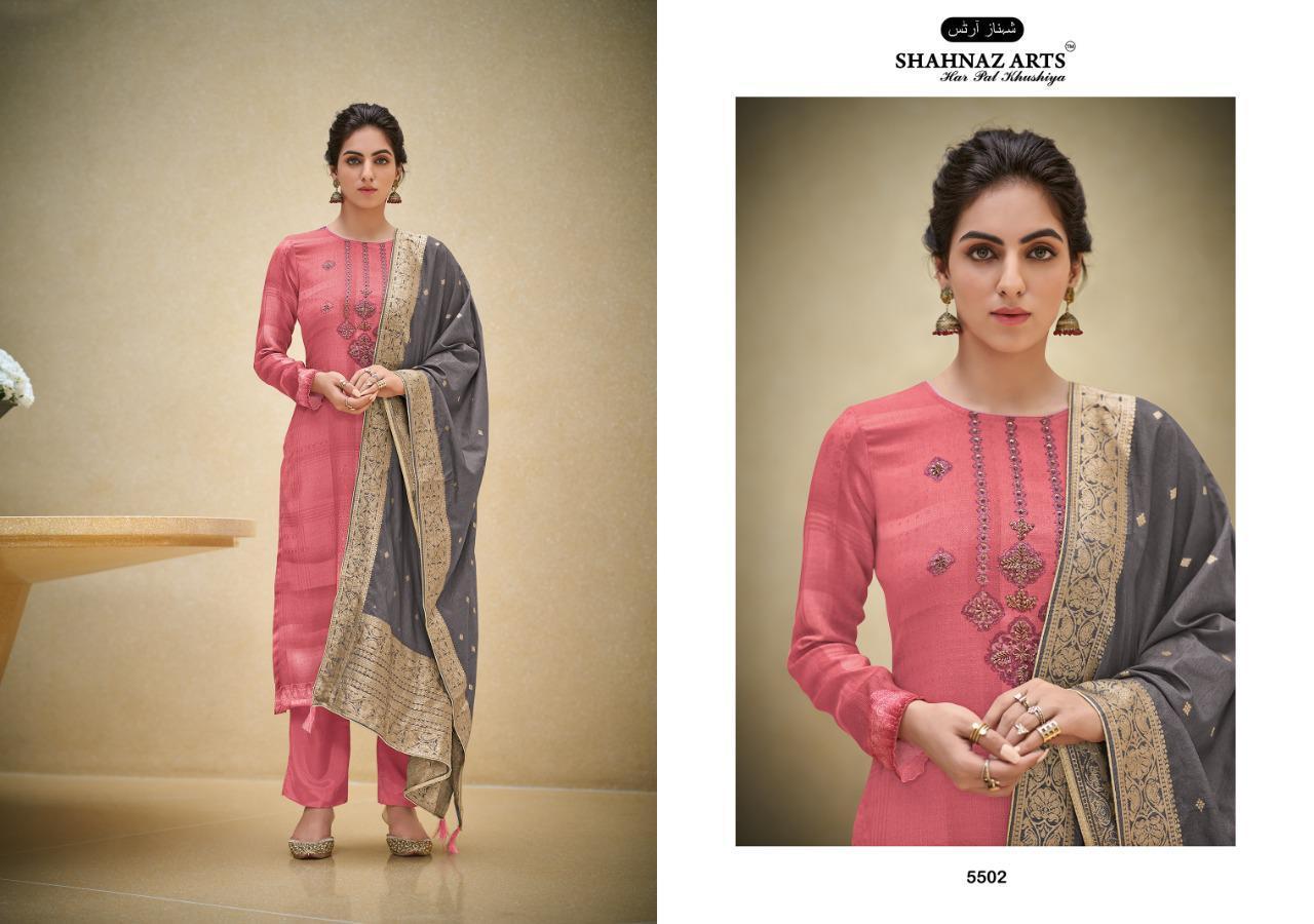 Shahnaz Arts Azira Pashmina Salwar Suit Wholesale Catalog 8 Pcs 7 - Shahnaz Arts Azira Pashmina Salwar Suit Wholesale Catalog 8 Pcs