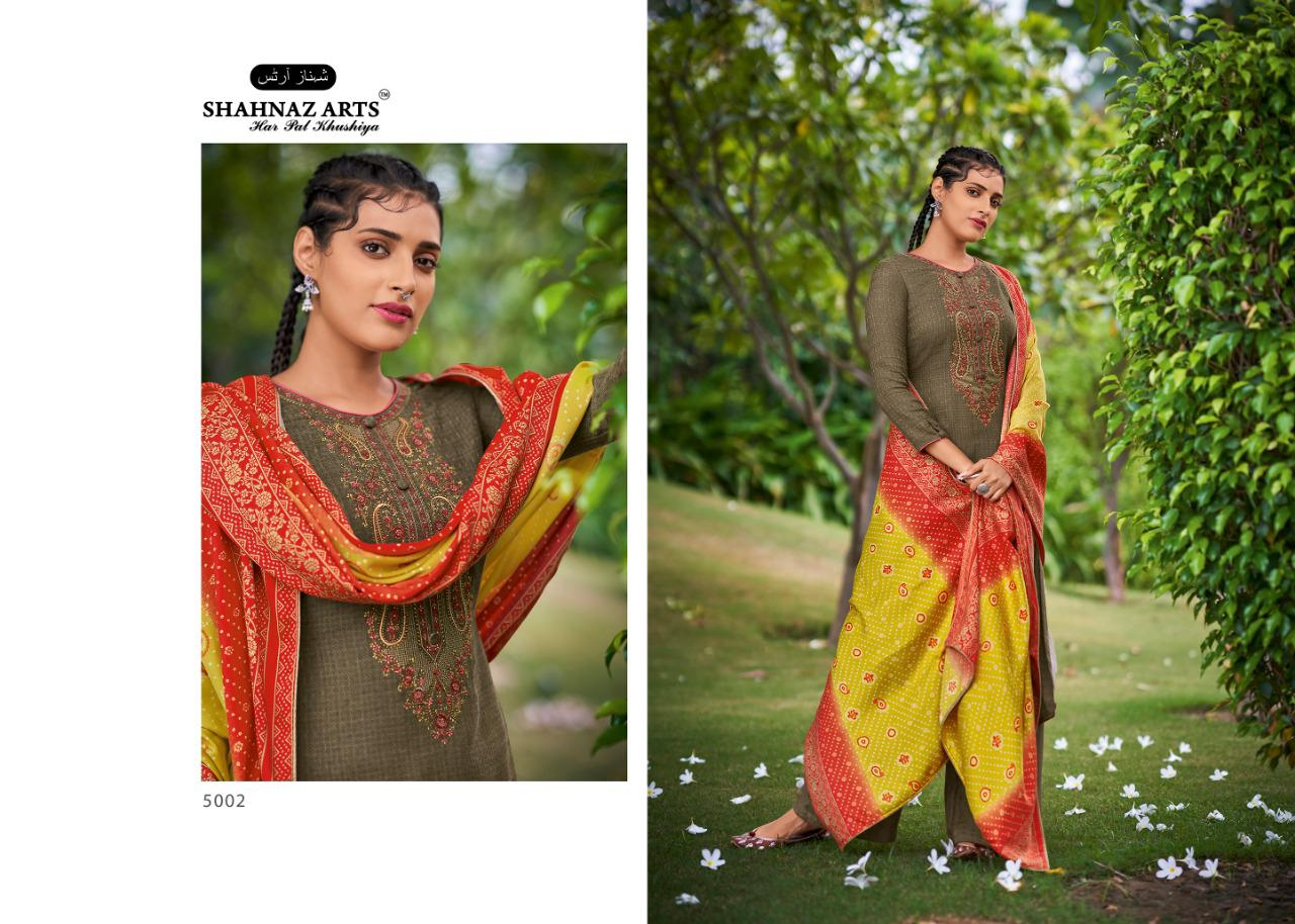 Shahnaz Arts Gulmohar Vol 4 Pashmina Salwar Suit Wholesale Catalog 8 Pcs 10 - Shahnaz Arts Gulmohar Vol 4 Pashmina Salwar Suit Wholesale Catalog 8 Pcs