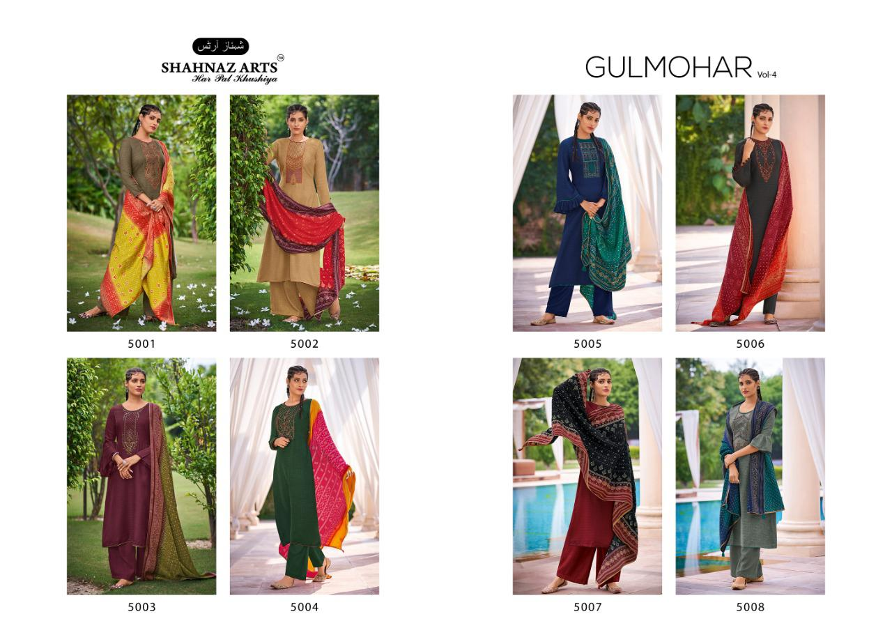 Shahnaz Arts Gulmohar Vol 4 Pashmina Salwar Suit Wholesale Catalog 8 Pcs 11 - Shahnaz Arts Gulmohar Vol 4 Pashmina Salwar Suit Wholesale Catalog 8 Pcs
