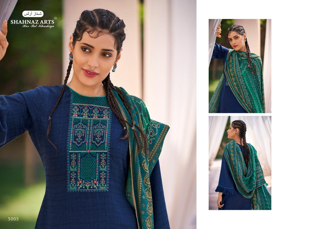 Shahnaz Arts Gulmohar Vol 4 Pashmina Salwar Suit Wholesale Catalog 8 Pcs 2 - Shahnaz Arts Gulmohar Vol 4 Pashmina Salwar Suit Wholesale Catalog 8 Pcs