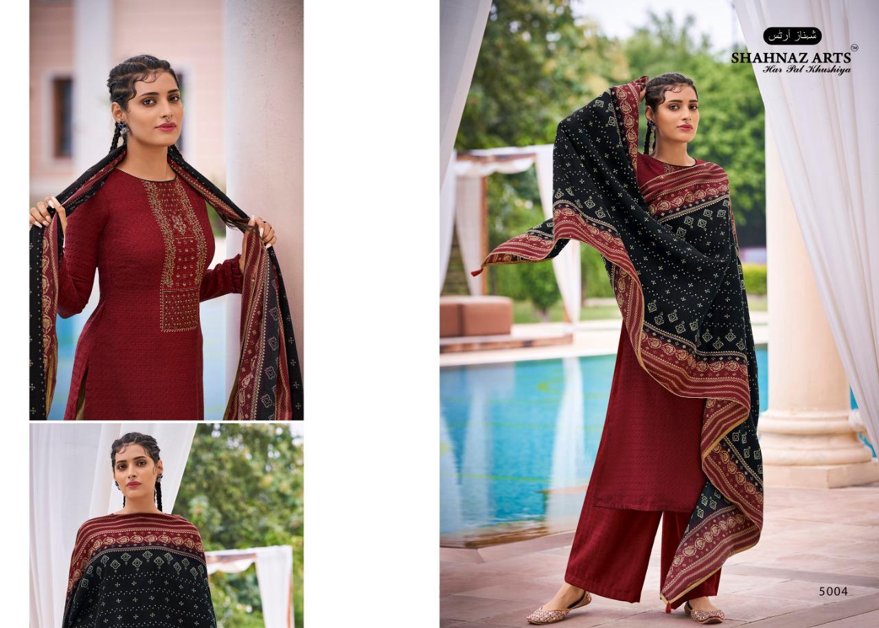 Shahnaz Arts Gulmohar Vol 4 Pashmina Salwar Suit Wholesale Catalog 8 Pcs 3 - Shahnaz Arts Gulmohar Vol 4 Pashmina Salwar Suit Wholesale Catalog 8 Pcs