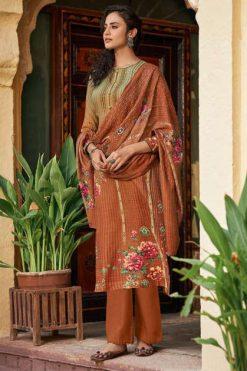 Shahnaz Arts Gulshan Vol 5 Pashmina Salwar Suit Wholesale Catalog 8 Pcs
