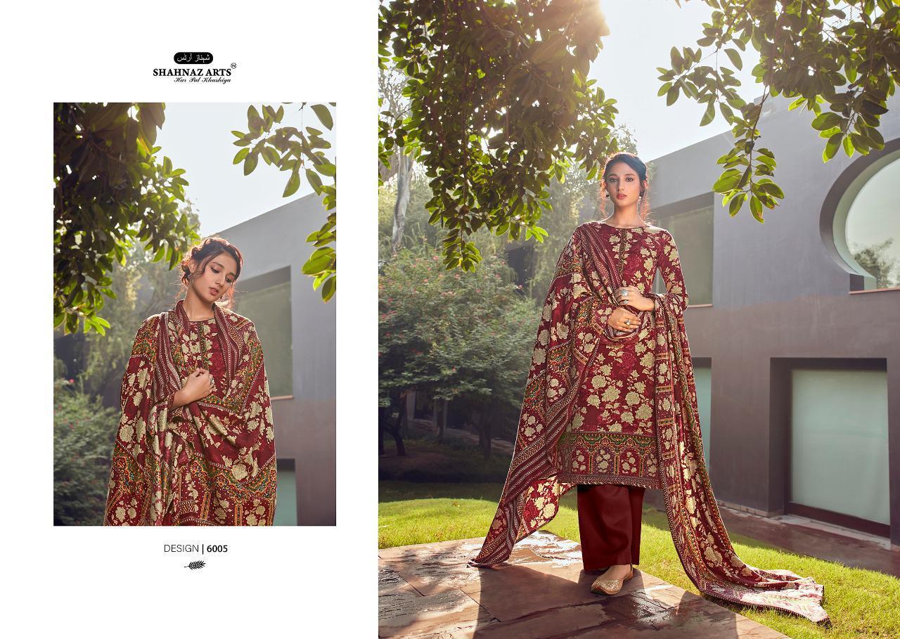Shahnaz Arts Gulshan Vol 6 Pashmina Salwar Suit Wholesale Catalog 6 Pcs 6 - Shahnaz Arts Gulshan Vol 6 Pashmina Salwar Suit Wholesale Catalog 6 Pcs