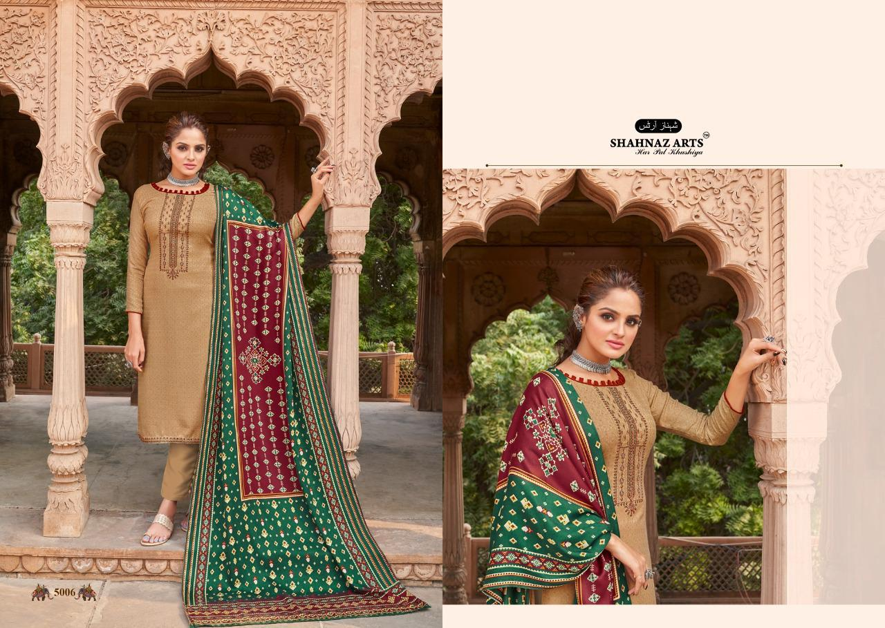 Shahnaz Arts Patola Pashmina Salwar Suit Wholesale Catalog 8 Pcs 11 - Shahnaz Arts Patola Pashmina Salwar Suit Wholesale Catalog 8 Pcs