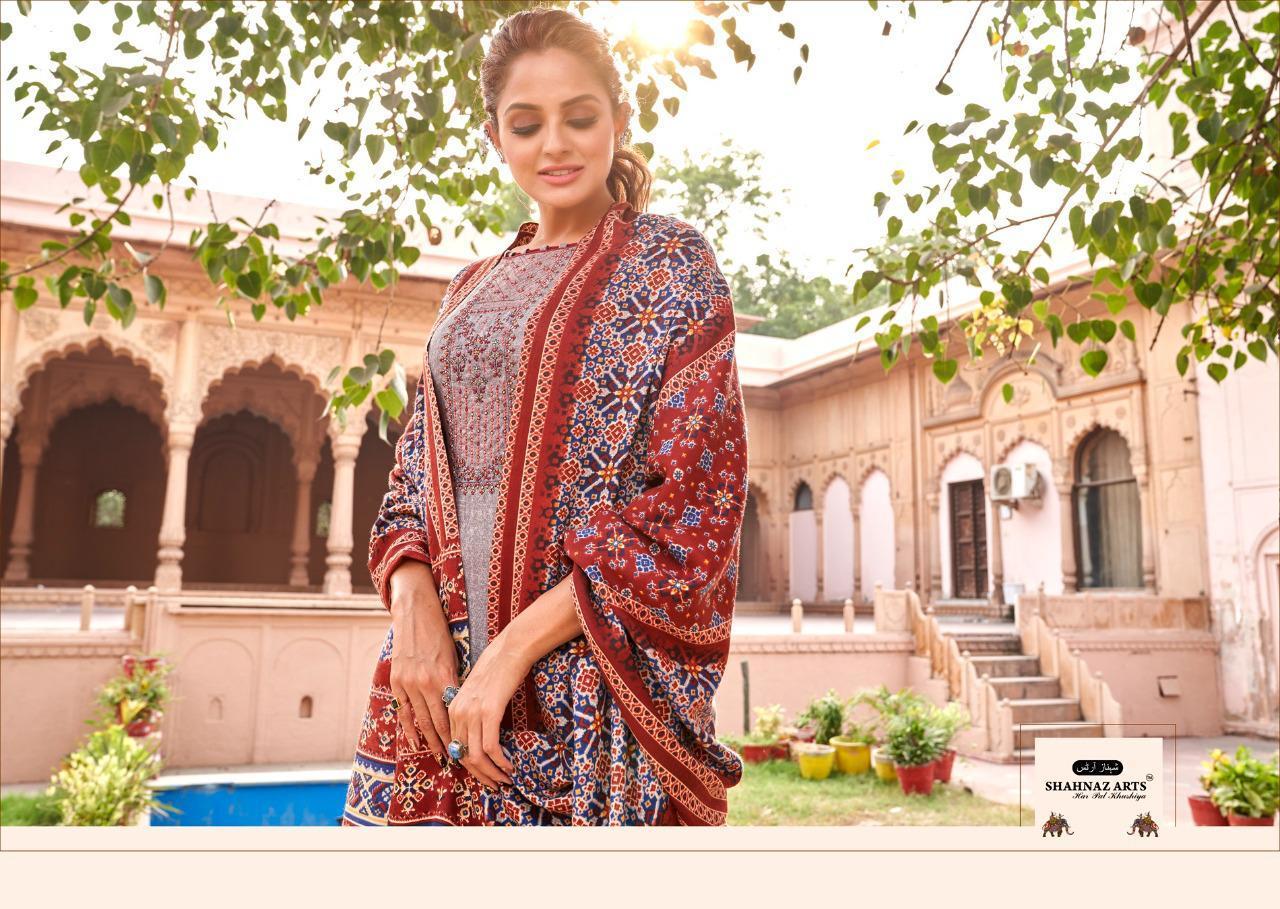 Shahnaz Arts Patola Pashmina Salwar Suit Wholesale Catalog 8 Pcs 12 - Shahnaz Arts Patola Pashmina Salwar Suit Wholesale Catalog 8 Pcs
