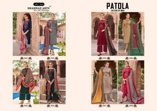Shahnaz Arts Patola Pashmina Salwar Suit Wholesale Catalog 8 Pcs 15 510x362 - Shahnaz Arts Patola Pashmina Salwar Suit Wholesale Catalog 8 Pcs