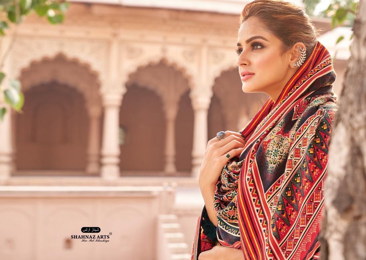 Shahnaz Arts Patola Pashmina Salwar Suit Wholesale Catalog 8 Pcs 2 - Shahnaz Arts Patola Pashmina Salwar Suit Wholesale Catalog 8 Pcs
