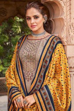 Shahnaz Arts Patola Pashmina Salwar Suit Wholesale Catalog 8 Pcs