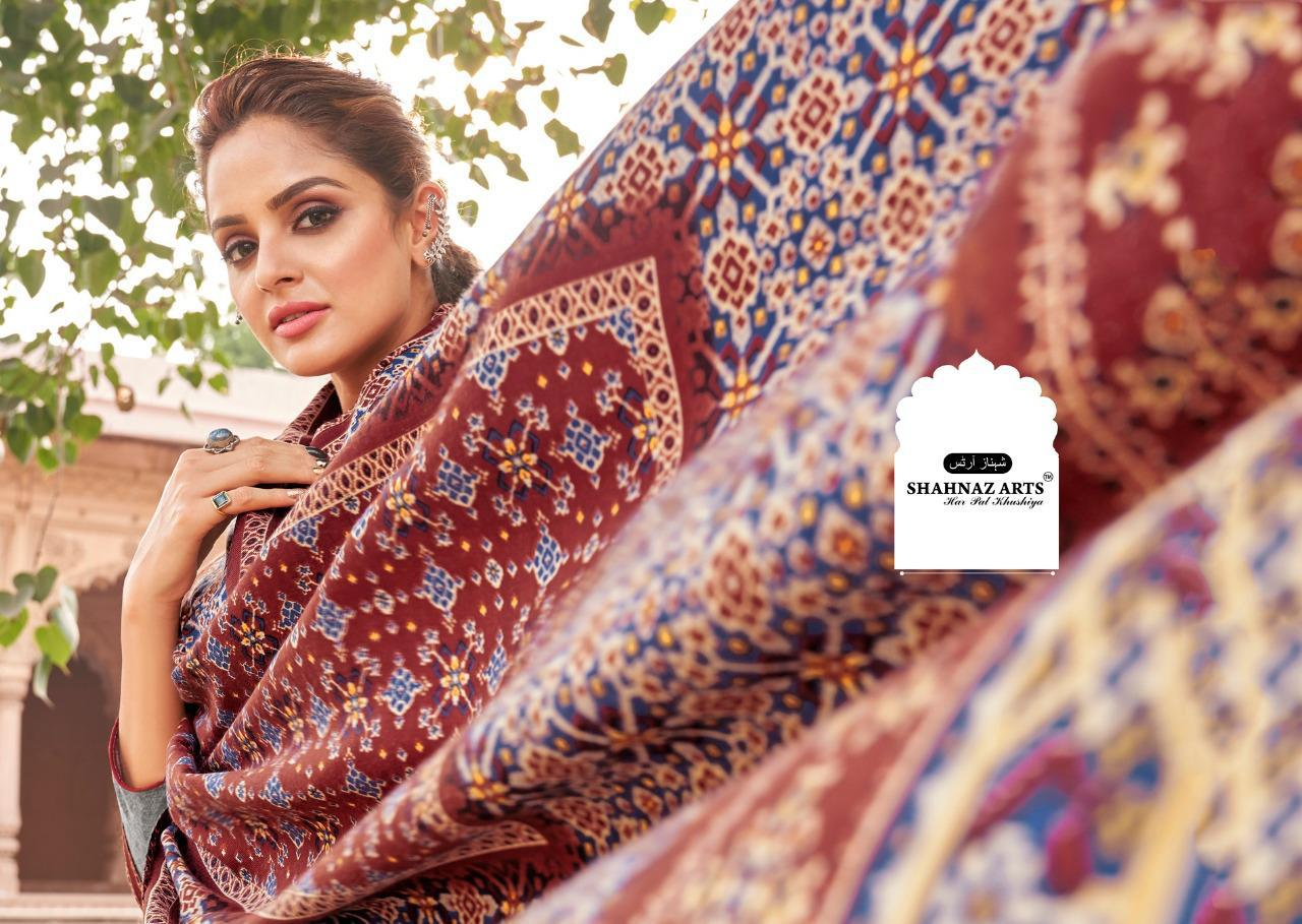 Shahnaz Arts Patola Pashmina Salwar Suit Wholesale Catalog 8 Pcs 4 - Shahnaz Arts Patola Pashmina Salwar Suit Wholesale Catalog 8 Pcs