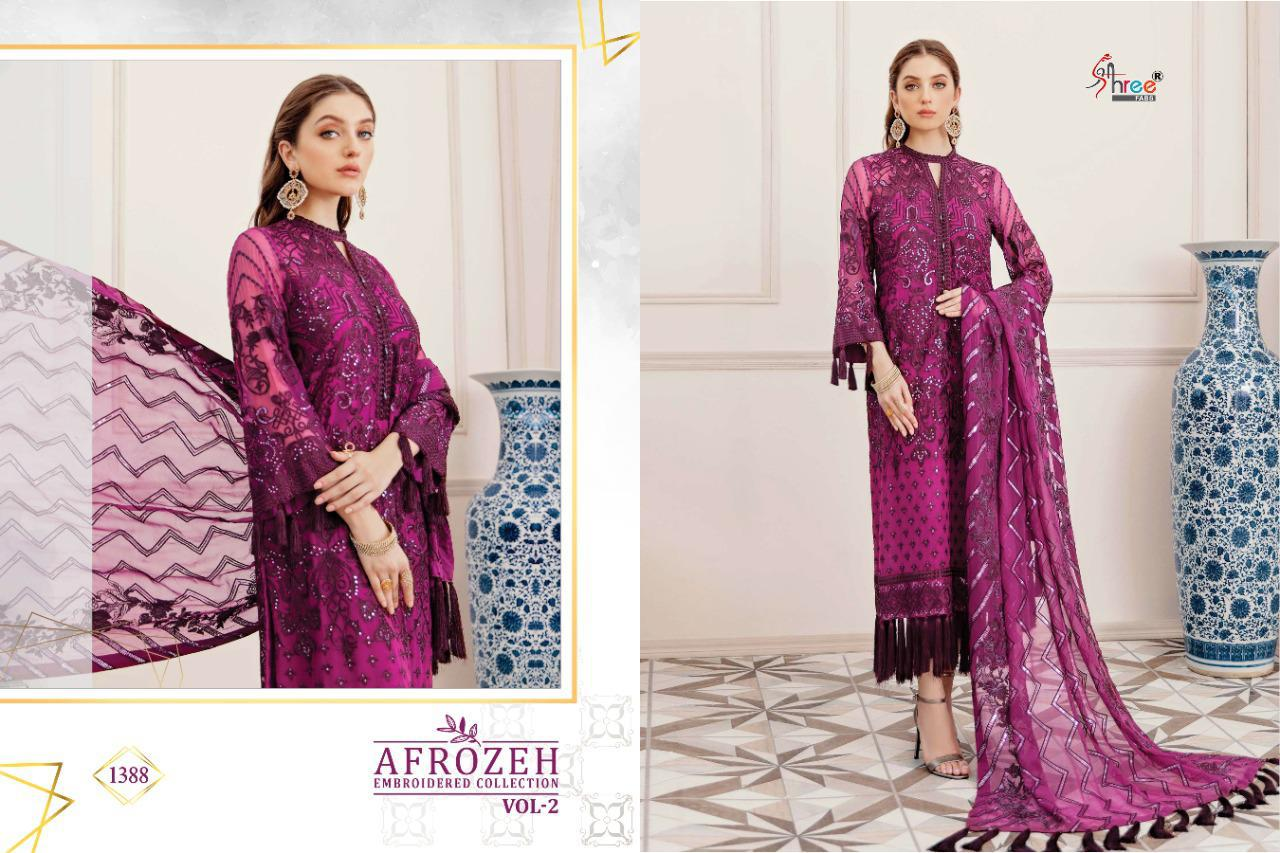 Shree Fabs Afrozeh Embroidered Collection Vol 2 Salwar Suit Wholesale Catalog 6 Pcs 10 - Shree Fabs Afrozeh Embroidered Collection Vol 2 Salwar Suit Wholesale Catalog 6 Pcs