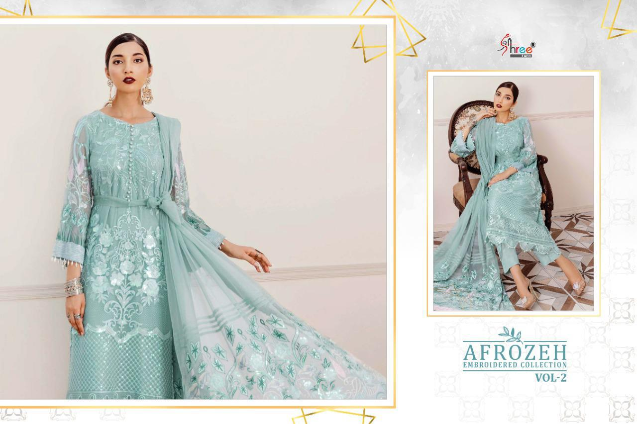 Shree Fabs Afrozeh Embroidered Collection Vol 2 Salwar Suit Wholesale Catalog 6 Pcs 11 - Shree Fabs Afrozeh Embroidered Collection Vol 2 Salwar Suit Wholesale Catalog 6 Pcs