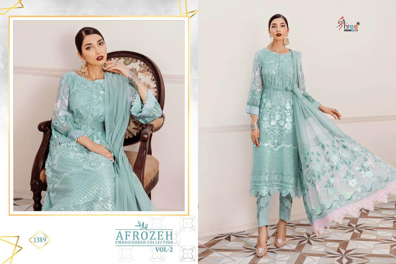 Shree Fabs Afrozeh Embroidered Collection Vol 2 Salwar Suit Wholesale Catalog 6 Pcs 12 - Shree Fabs Afrozeh Embroidered Collection Vol 2 Salwar Suit Wholesale Catalog 6 Pcs
