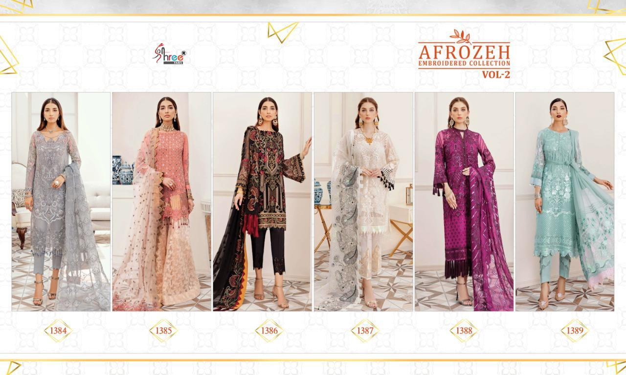 Shree Fabs Afrozeh Embroidered Collection Vol 2 Salwar Suit Wholesale Catalog 6 Pcs 13 - Shree Fabs Afrozeh Embroidered Collection Vol 2 Salwar Suit Wholesale Catalog 6 Pcs