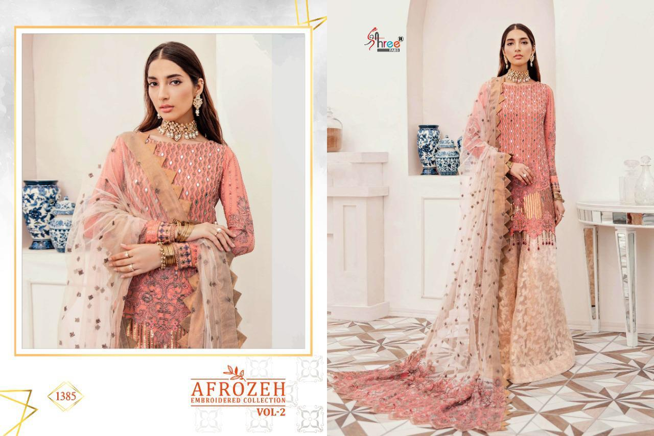 Shree Fabs Afrozeh Embroidered Collection Vol 2 Salwar Suit Wholesale Catalog 6 Pcs 3 - Shree Fabs Afrozeh Embroidered Collection Vol 2 Salwar Suit Wholesale Catalog 6 Pcs