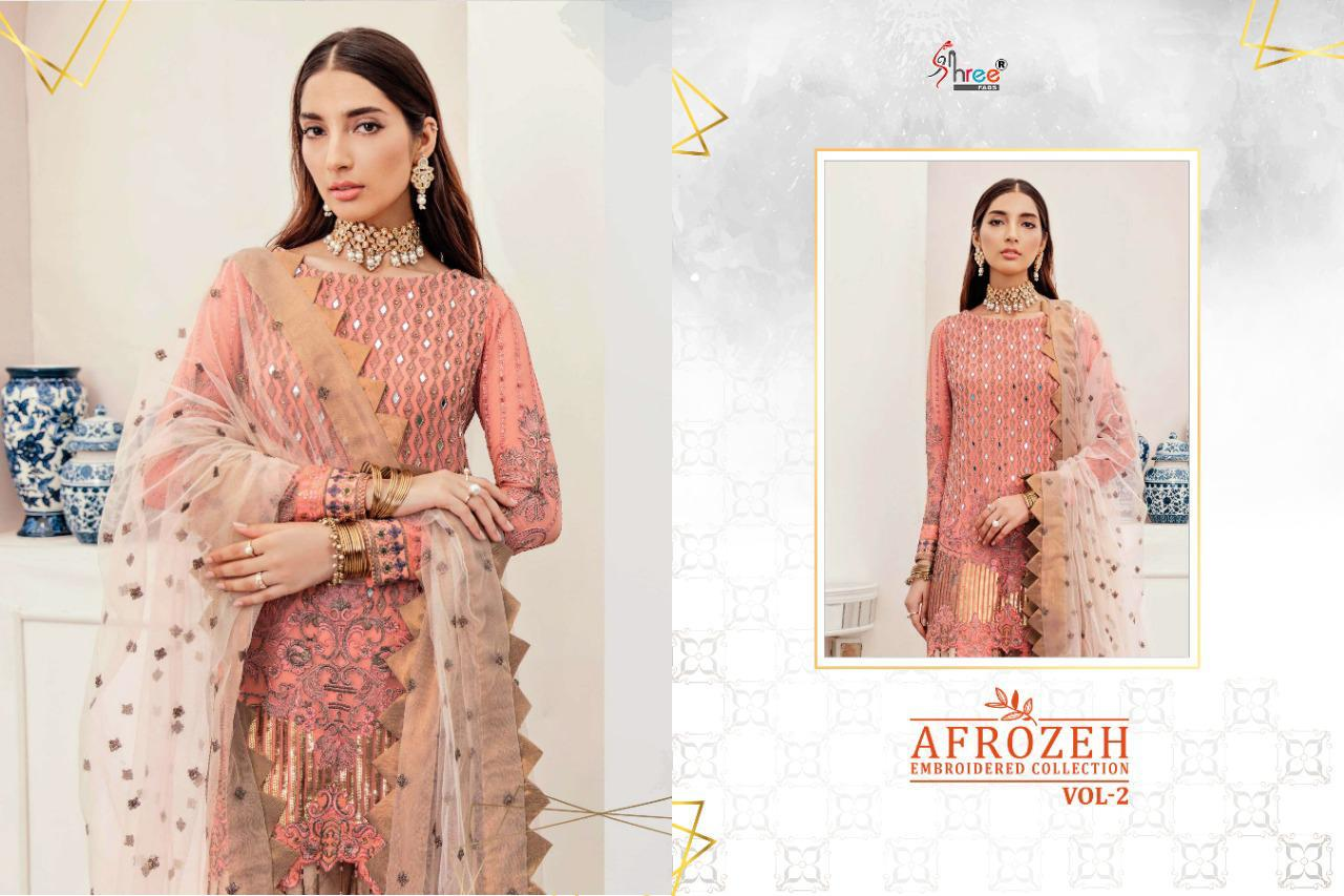 Shree Fabs Afrozeh Embroidered Collection Vol 2 Salwar Suit Wholesale Catalog 6 Pcs 4 - Shree Fabs Afrozeh Embroidered Collection Vol 2 Salwar Suit Wholesale Catalog 6 Pcs