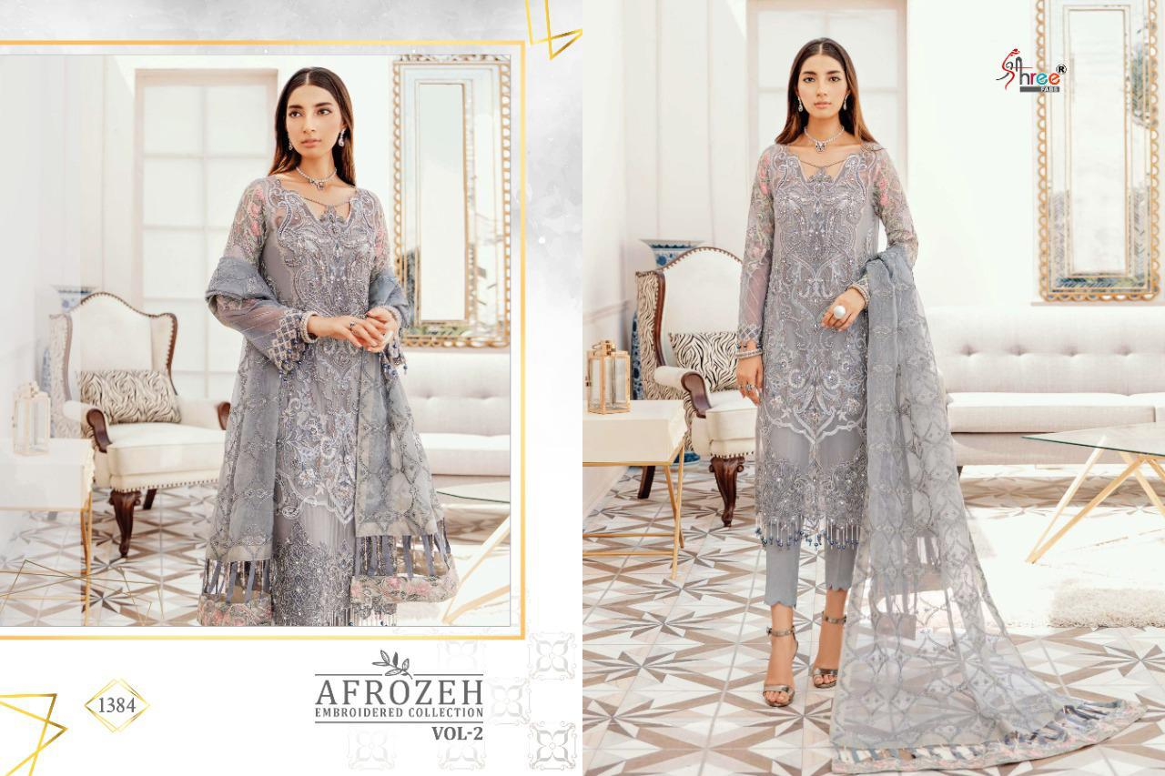 Shree Fabs Afrozeh Embroidered Collection Vol 2 Salwar Suit Wholesale Catalog 6 Pcs 5 - Shree Fabs Afrozeh Embroidered Collection Vol 2 Salwar Suit Wholesale Catalog 6 Pcs