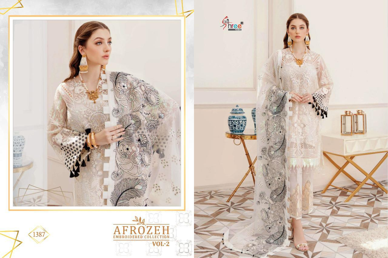 Shree Fabs Afrozeh Embroidered Collection Vol 2 Salwar Suit Wholesale Catalog 6 Pcs 6 - Shree Fabs Afrozeh Embroidered Collection Vol 2 Salwar Suit Wholesale Catalog 6 Pcs