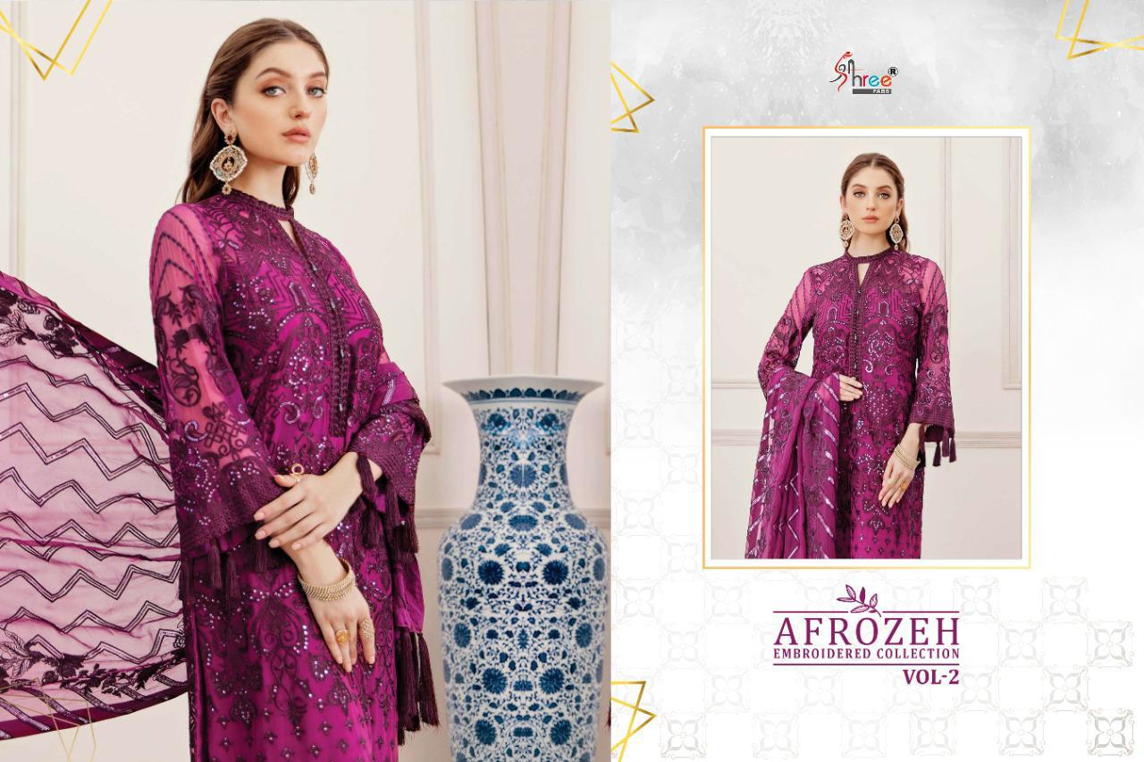 Shree Fabs Afrozeh Embroidered Collection Vol 2 Salwar Suit Wholesale Catalog 6 Pcs 7 - Shree Fabs Afrozeh Embroidered Collection Vol 2 Salwar Suit Wholesale Catalog 6 Pcs