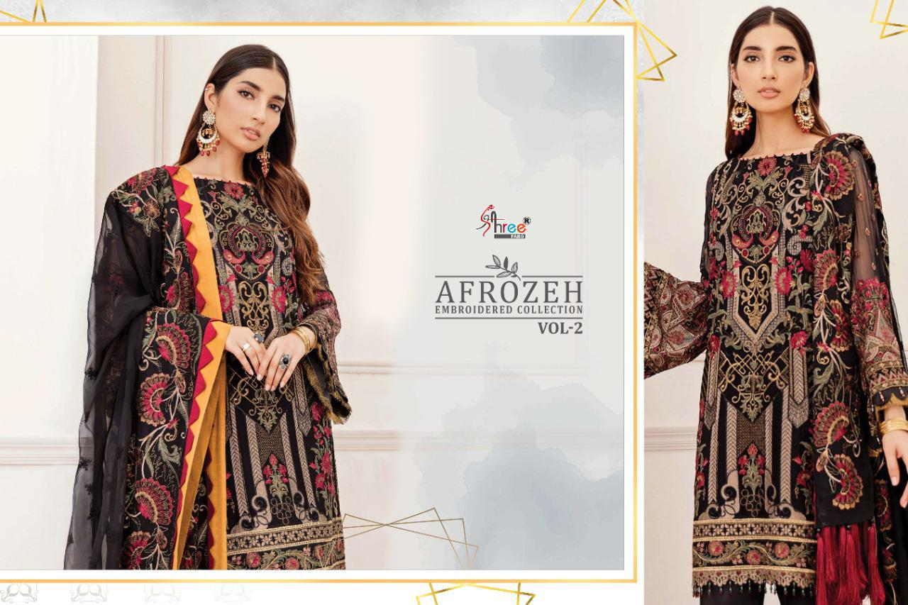 Shree Fabs Afrozeh Embroidered Collection Vol 2 Salwar Suit Wholesale Catalog 6 Pcs 8 - Shree Fabs Afrozeh Embroidered Collection Vol 2 Salwar Suit Wholesale Catalog 6 Pcs