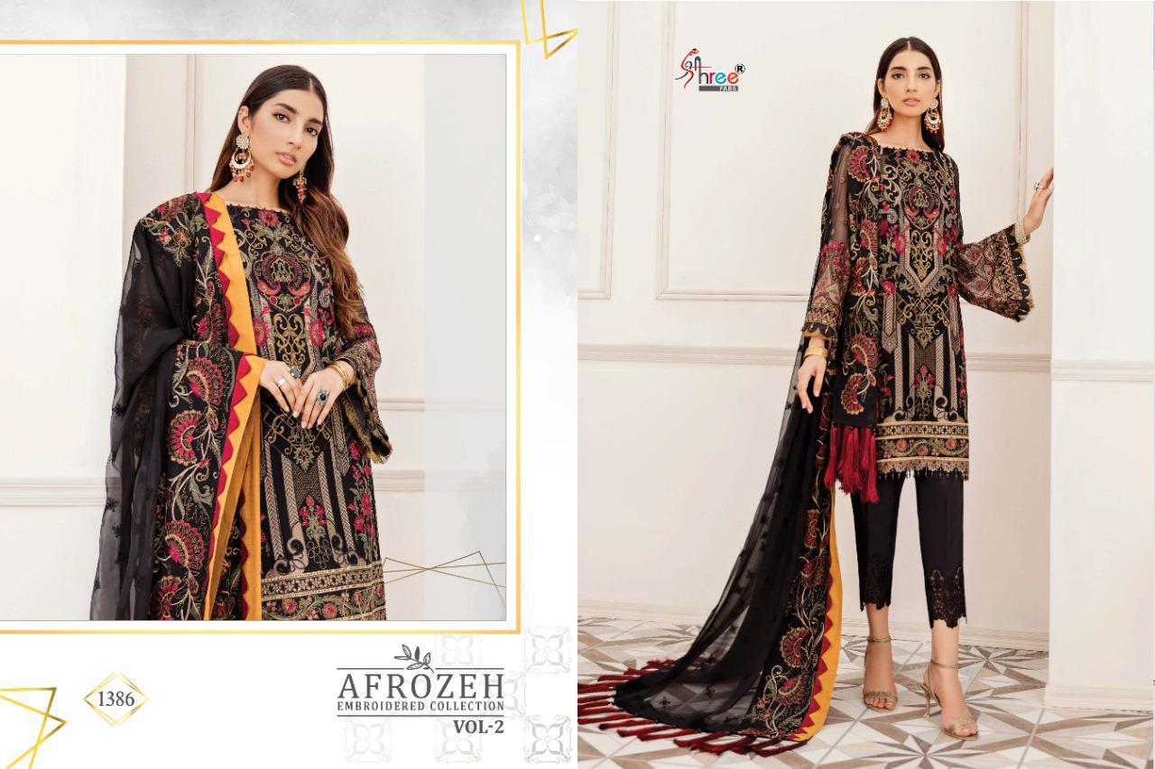 Shree Fabs Afrozeh Embroidered Collection Vol 2 Salwar Suit Wholesale Catalog 6 Pcs 9 - Shree Fabs Afrozeh Embroidered Collection Vol 2 Salwar Suit Wholesale Catalog 6 Pcs