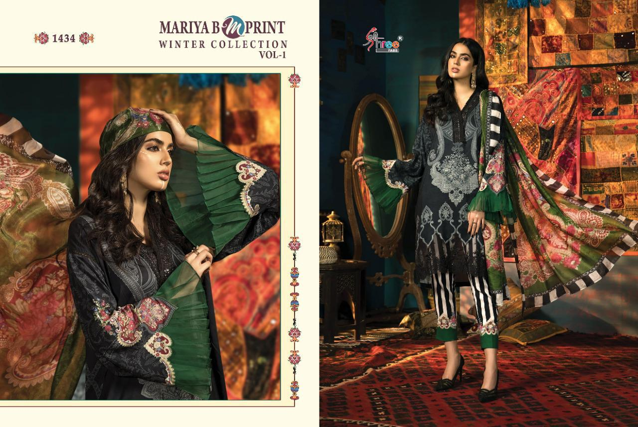 Shree Fabs Mariya B MPrint Winter Collection Vol 1 Salwar Suit Wholesale Catalog 8 Pcs 6 - Shree Fabs Mariya B MPrint Winter Collection Vol 1 Salwar Suit Wholesale Catalog 8 Pcs