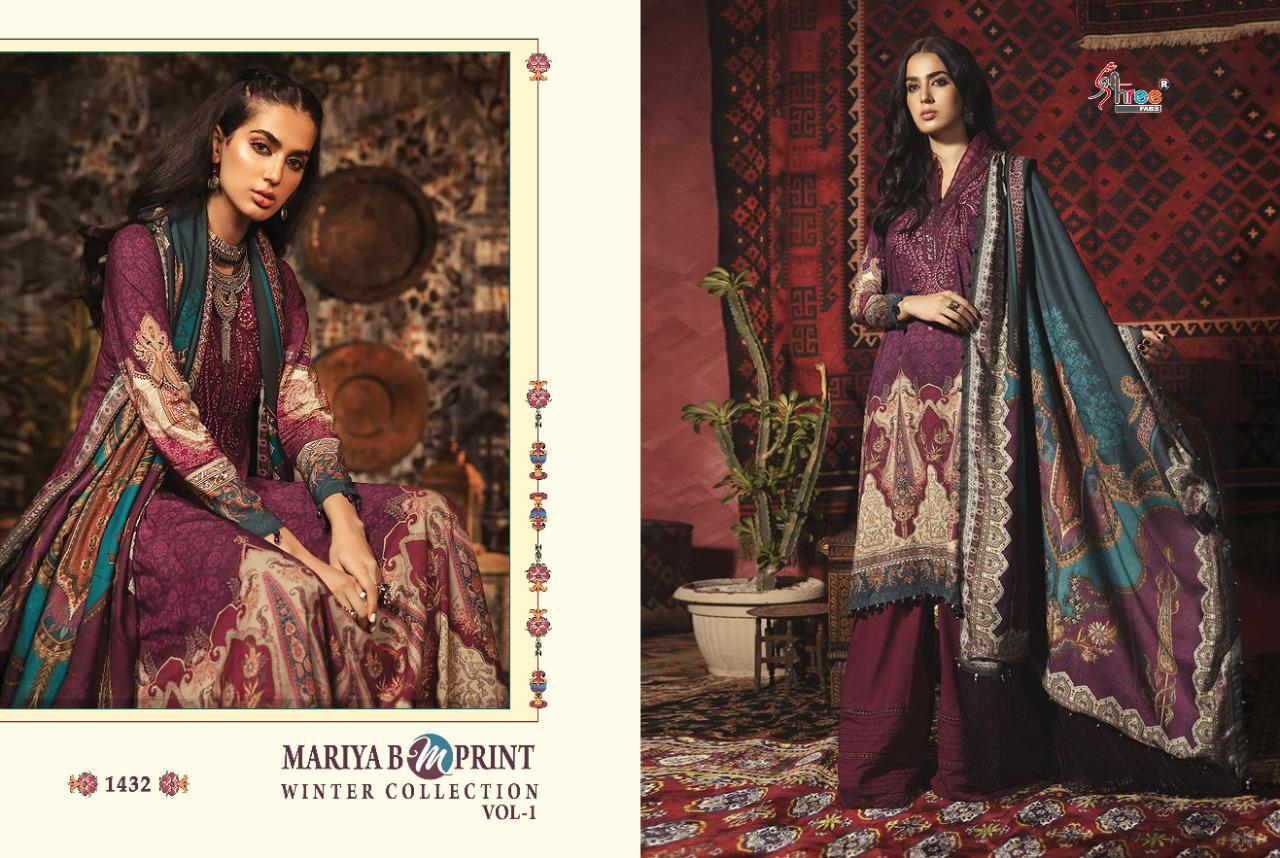 Shree Fabs Mariya B MPrint Winter Collection Vol 1 Salwar Suit Wholesale Catalog 8 Pcs 7 - Shree Fabs Mariya B MPrint Winter Collection Vol 1 Salwar Suit Wholesale Catalog 8 Pcs