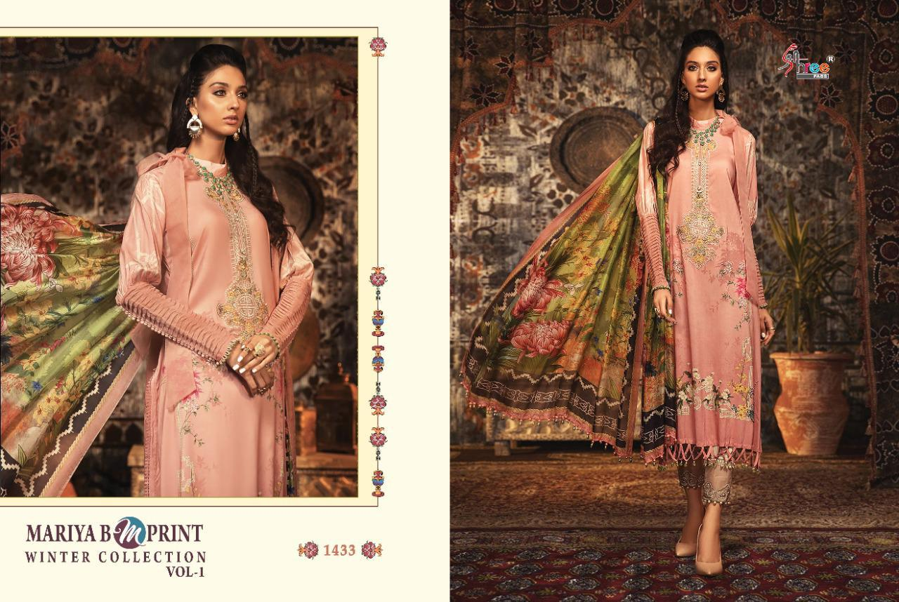Shree Fabs Mariya B MPrint Winter Collection Vol 1 Salwar Suit Wholesale Catalog 8 Pcs 8 - Shree Fabs Mariya B MPrint Winter Collection Vol 1 Salwar Suit Wholesale Catalog 8 Pcs