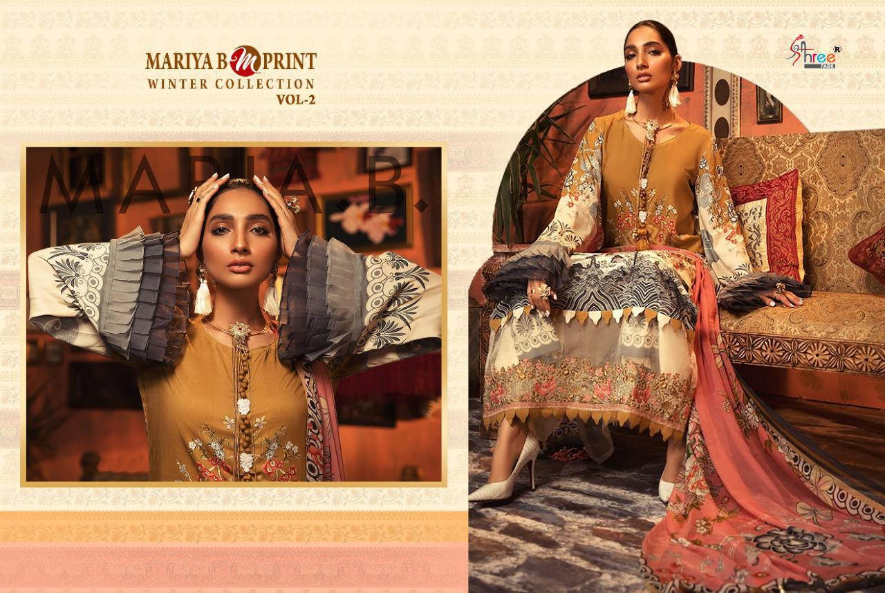 Shree Fabs Mariya B MPrint Winter Collection Vol 2 Salwar Suit Wholesale Catalog 8 Pcs 4 - Shree Fabs Mariya B MPrint Winter Collection Vol 2 Salwar Suit Wholesale Catalog 8 Pcs