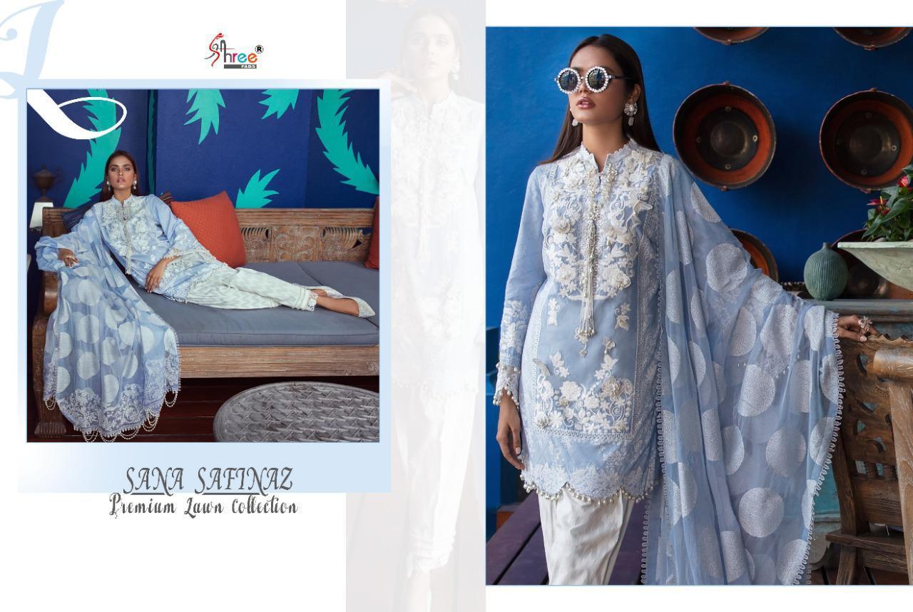 Shree Fabs Sana Safinaz Premium Lawn Collection Salwar Suit Wholesale Catalog 7 Pcs 14 - Shree Fabs Sana Safinaz Premium Lawn Collection Salwar Suit Wholesale Catalog 7 Pcs