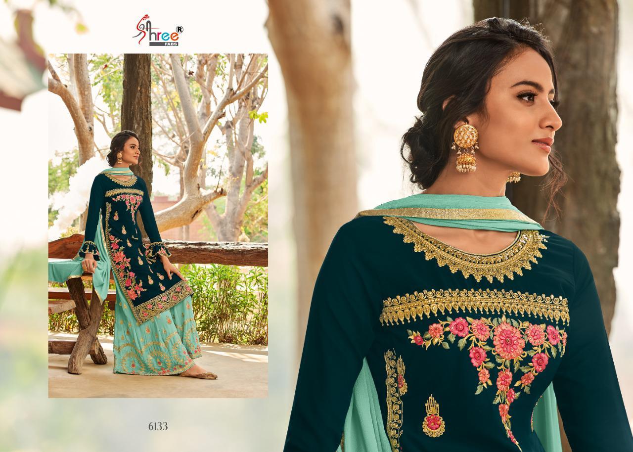 Shree Fabs Shahnai Bridal Collection Vol 26 Salwar Suit Wholesale Catalog 5 Pcs 9 - Shree Fabs Shahnai Bridal Collection Vol 26 Salwar Suit Wholesale Catalog 5 Pcs
