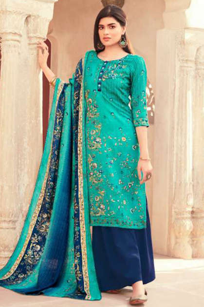 Suryajyoti Nazia Vol 1 Pashmina Salwar Suit Wholesale Catalog 10 Pcs