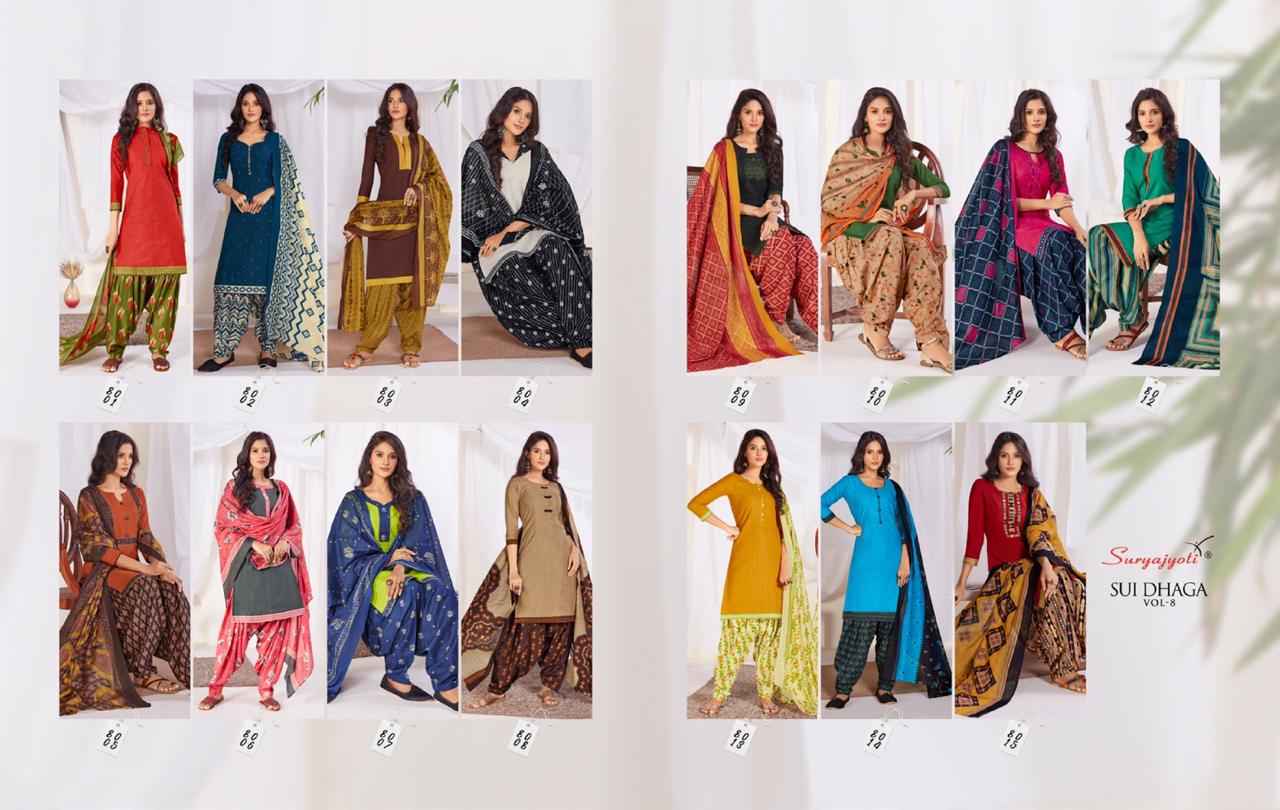 Suryajyoti Sui Dhaga Vol 8 Readymade Salwar Suit Wholesale Catalog 15 Pcs 13 - Suryajyoti Sui Dhaga Vol 8 Readymade Salwar Suit Wholesale Catalog 15 Pcs