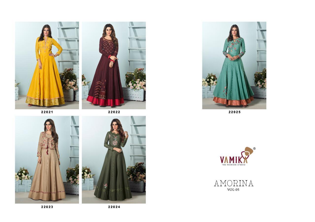 Vamika Amorina Vol 5 Kurti Wholesale Catalog 5 Pcs 11 - Vamika Amorina Vol 5 Kurti Wholesale Catalog 5 Pcs