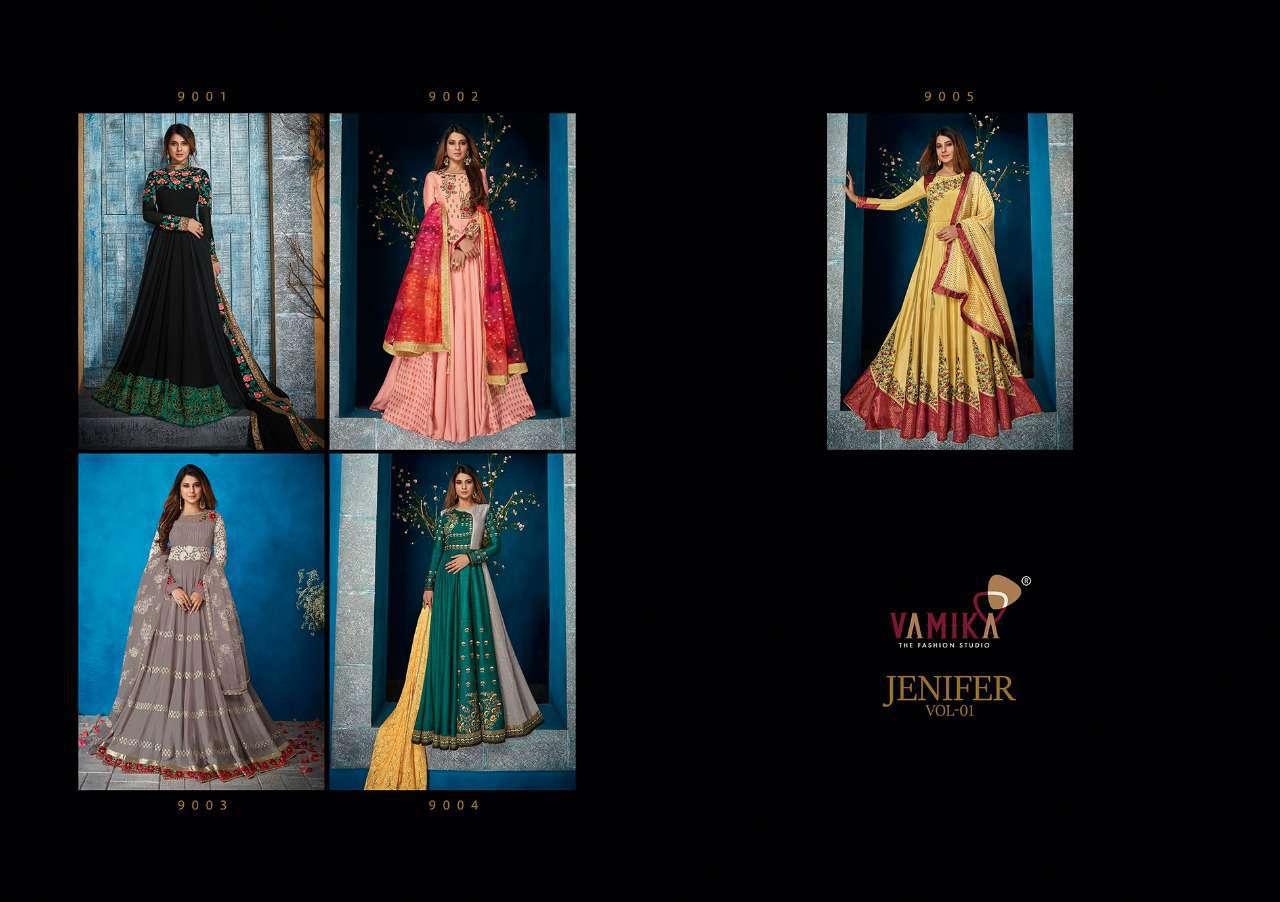 Vamika Jenifer Vol 1 Readymade Salwar Suit Wholesale Catalog 5 Pcs 13 - Vamika Jenifer Vol 1 Readymade Salwar Suit Wholesale Catalog 5 Pcs