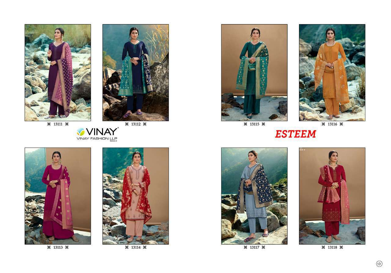 Vinay Kaseesh Esteem Salwar Suit Wholesale Catalog 8 Pcs 11 - Vinay Kaseesh Esteem Salwar Suit Wholesale Catalog 8 Pcs