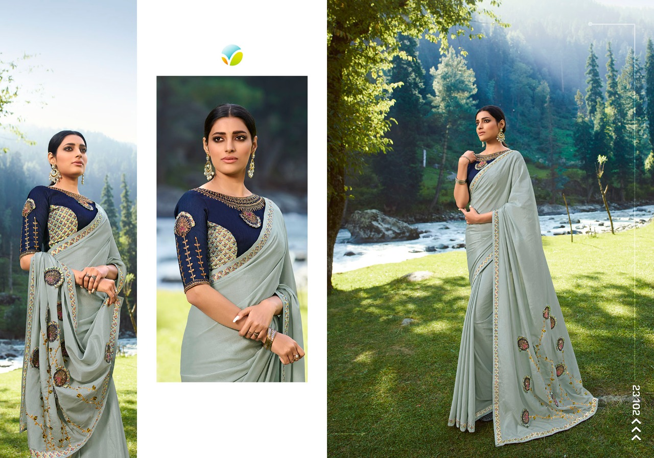 Vinay Sheesha Vibrant Saree Sari Wholesale Catalog 9 Pcs 10 - Vinay Sheesha Vibrant Saree Sari Wholesale Catalog 9 Pcs