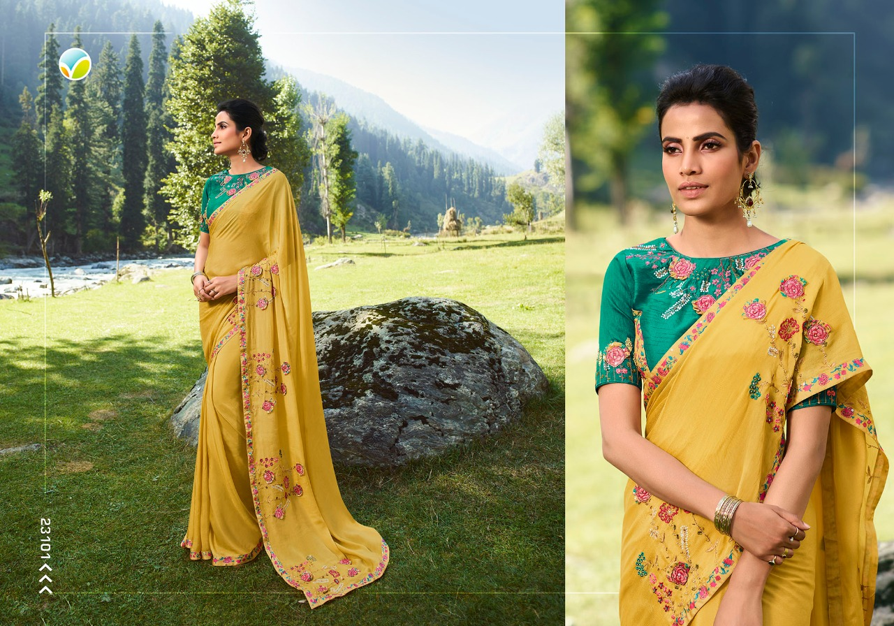 Vinay Sheesha Vibrant Saree Sari Wholesale Catalog 9 Pcs 2 - Vinay Sheesha Vibrant Saree Sari Wholesale Catalog 9 Pcs