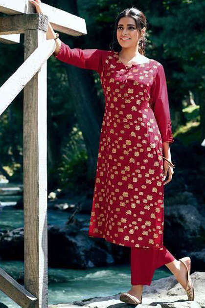 Vinay Tumbaa Lightning Vol 3 Kurti with Palazzo Wholesale Catalog 6 Pcs