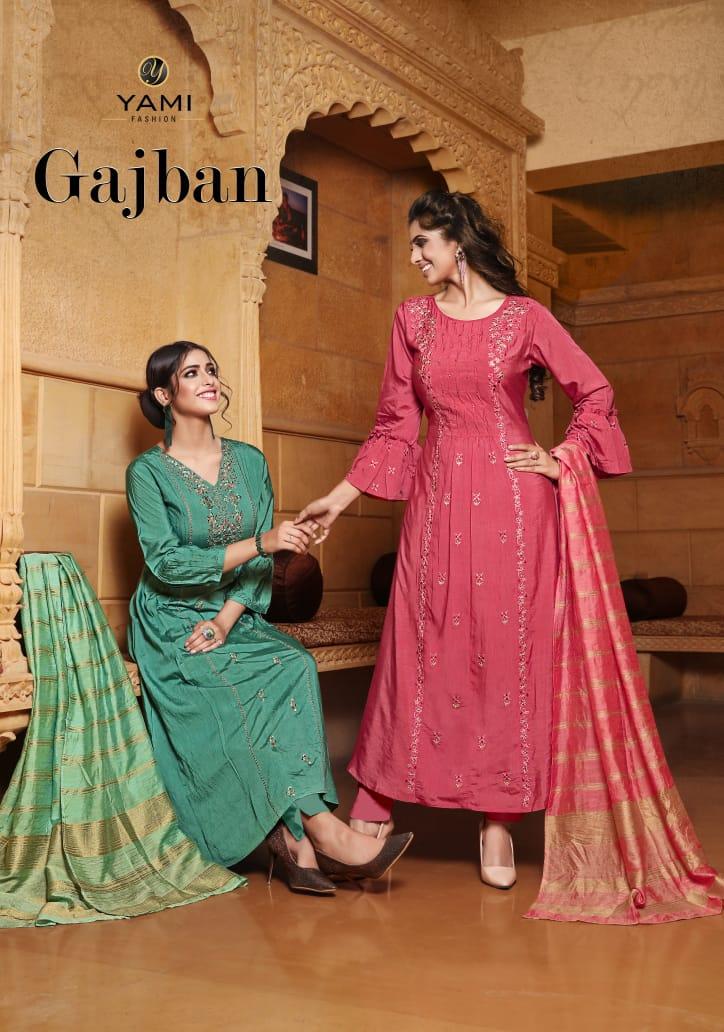 Yami Fashion Gajban Kurti with Dupatta Wholesale Catalog 6 Pcs 1 - Yami Fashion Gajban Kurti with Dupatta Wholesale Catalog 6 Pcs