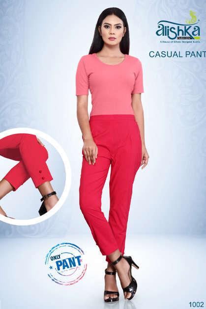 Alishka Casual Pant Wholesale Catalog 7 Pcs - Alishka Casual Pant Wholesale Catalog 7 Pcs