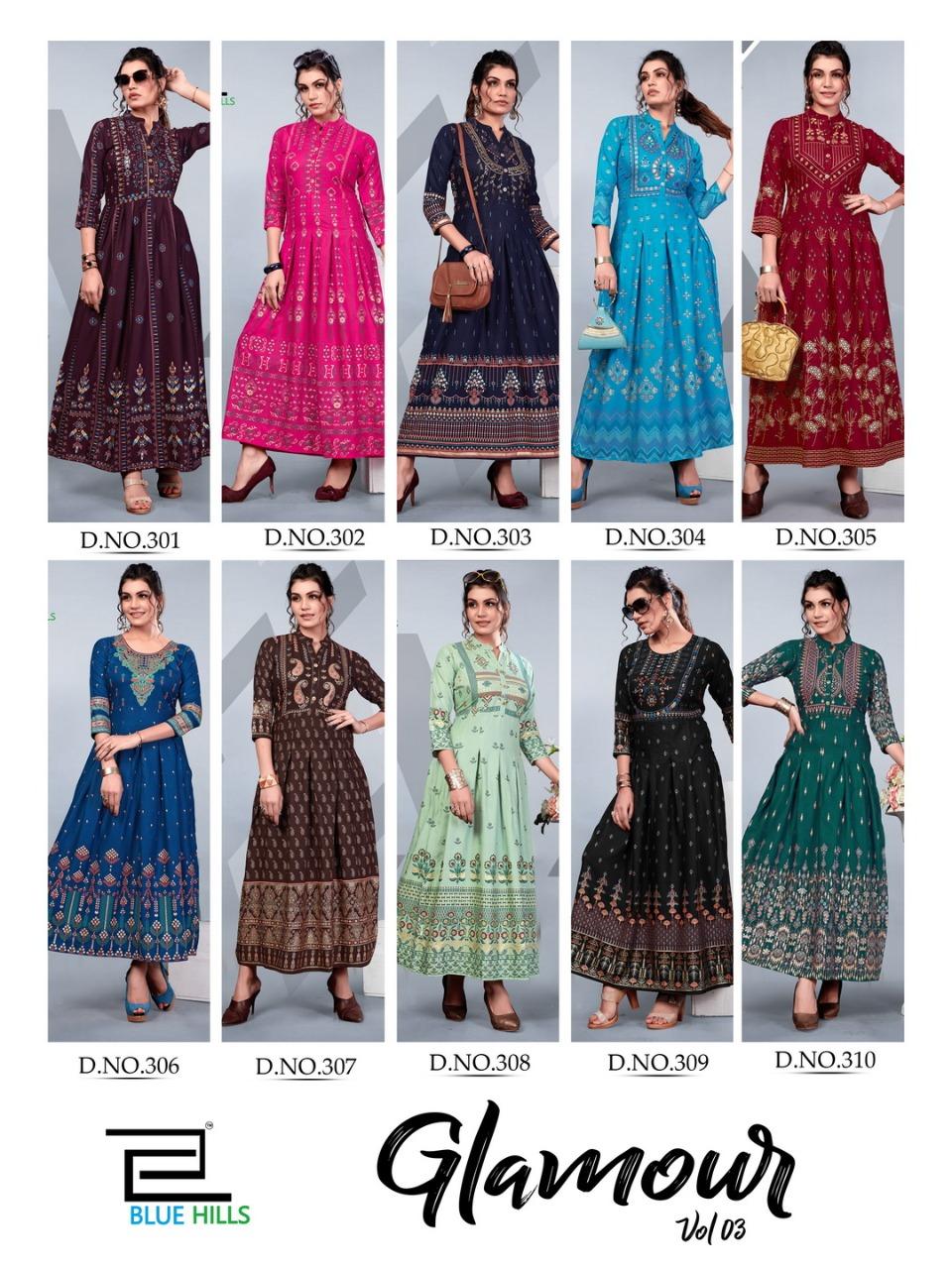 Blue Hills Glamour Vol 3 Kurti Wholesale Catalog 10 Pcs 13 - Blue Hills Glamour Vol 3 Kurti Wholesale Catalog 10 Pcs