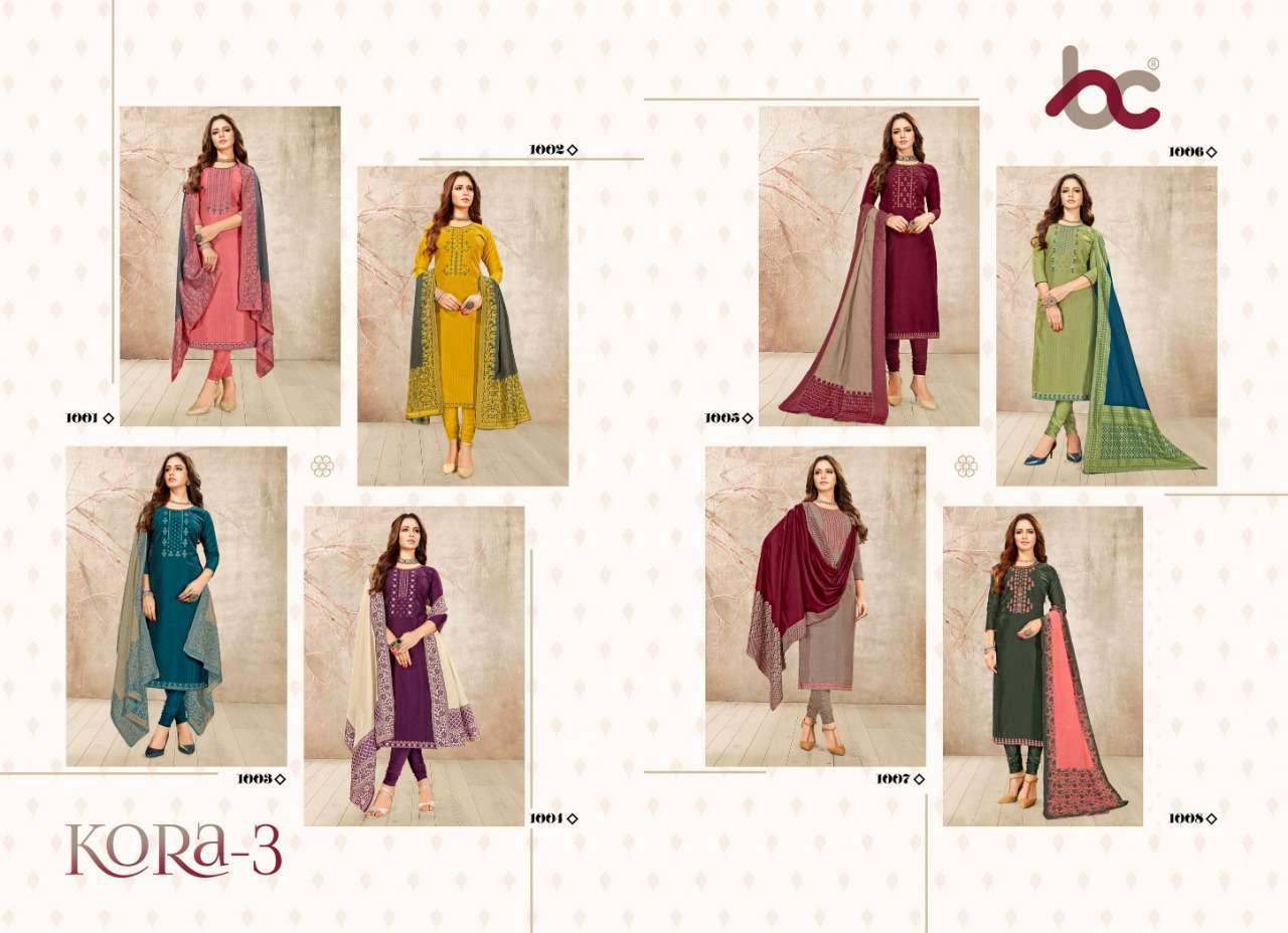 Brij Kora Vol 3 Salwar Suit Wholesale Catalog 8 Pcs 18 - Brij Kora Vol 3 Salwar Suit Wholesale Catalog 8 Pcs
