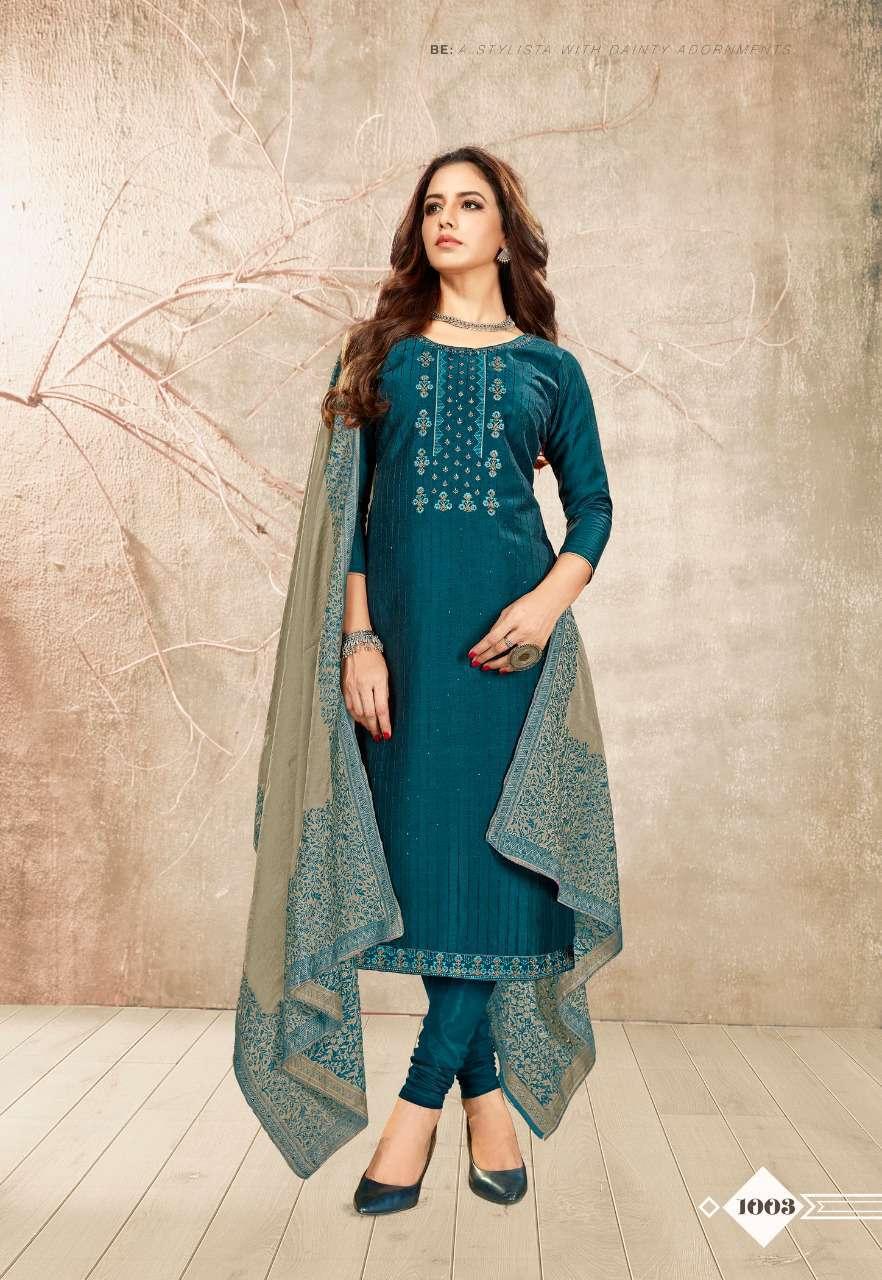 Brij Kora Vol 3 Salwar Suit Wholesale Catalog 8 Pcs 8 - Brij Kora Vol 3 Salwar Suit Wholesale Catalog 8 Pcs