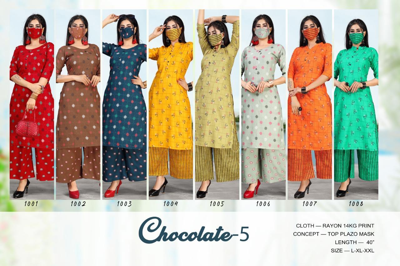 Chocolate Vol 5 Kurti with Palazzo Wholesale Catalog 8 Pcs 9 - Chocolate Vol 5 Kurti with Palazzo Wholesale Catalog 8 Pcs