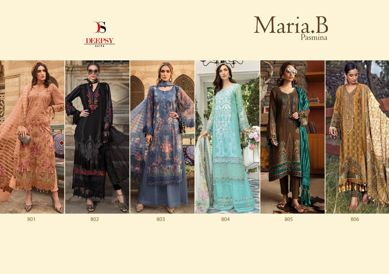Deepsy Maria B Pashmina Salwar Suit Wholesale Catalog 6 Pcs 11 - Deepsy Maria B Pashmina Salwar Suit Wholesale Catalog 6 Pcs