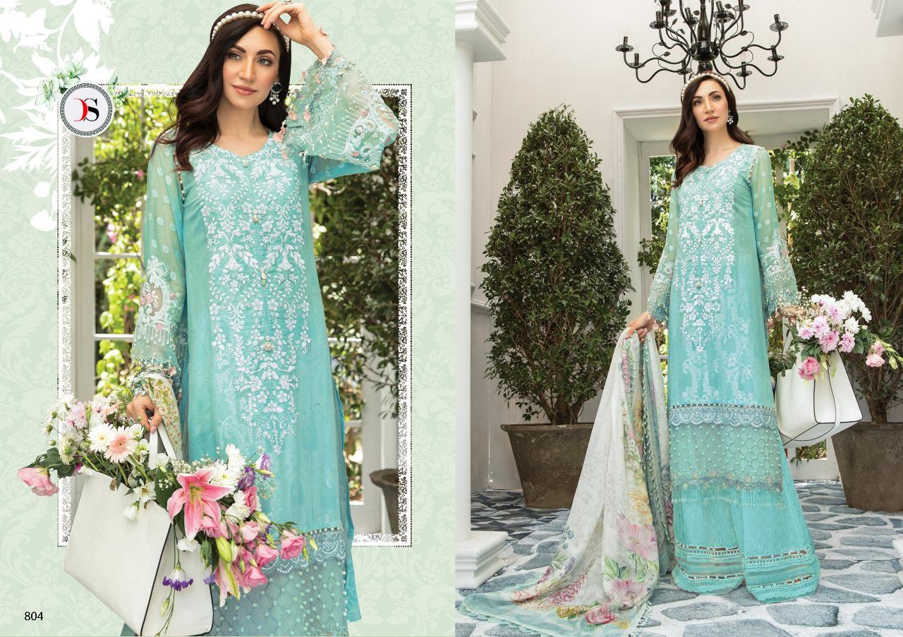 Deepsy Maria B Pashmina Salwar Suit Wholesale Catalog 6 Pcs 6 - Deepsy Maria B Pashmina Salwar Suit Wholesale Catalog 6 Pcs