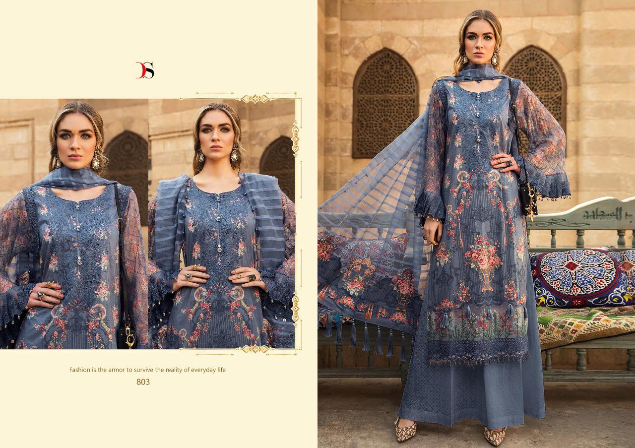 Deepsy Maria B Pashmina Salwar Suit Wholesale Catalog 6 Pcs 7 - Deepsy Maria B Pashmina Salwar Suit Wholesale Catalog 6 Pcs
