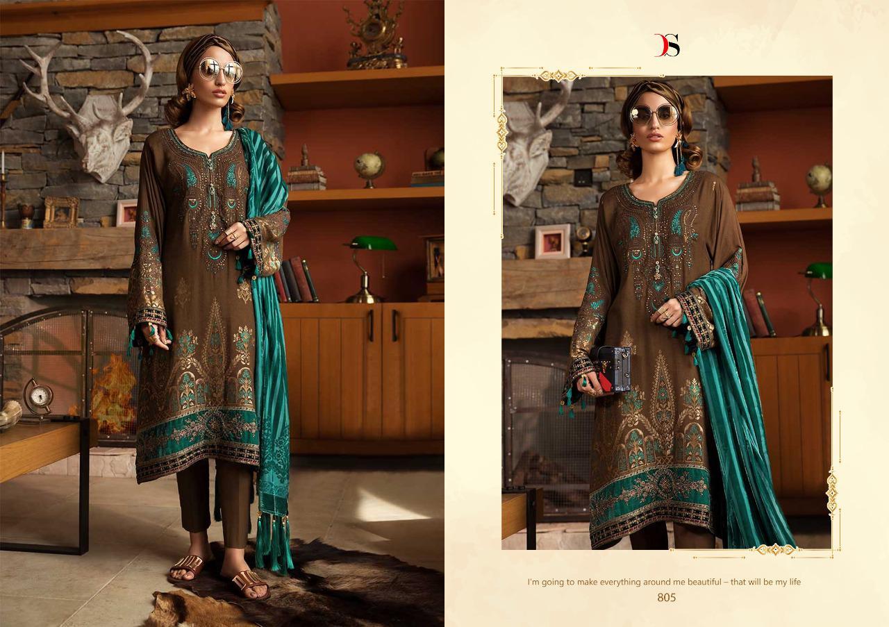 Deepsy Maria B Pashmina Salwar Suit Wholesale Catalog 6 Pcs 8 - Deepsy Maria B Pashmina Salwar Suit Wholesale Catalog 6 Pcs