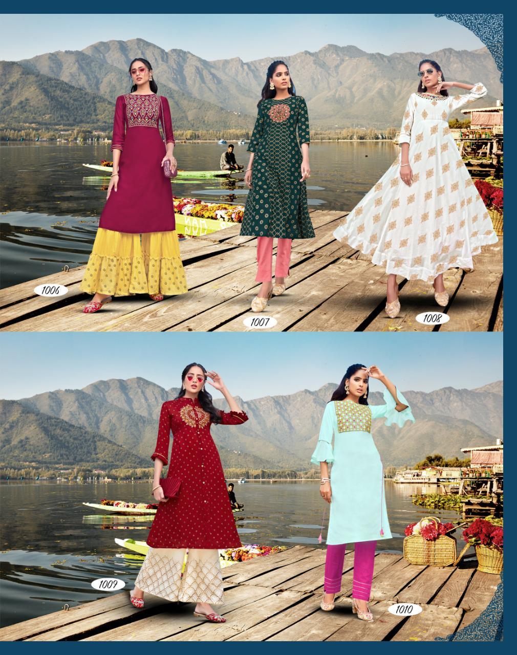 Diya Trends Fashion Festive Vol 1 by Kajal Style Kurti with Palazzo Pant Sharara Wholesale Catalog 10 Pcs 13 - Diya Trends Fashion Festive Vol 1 by Kajal Style Kurti with Palazzo Pant Sharara Wholesale Catalog 10 Pcs
