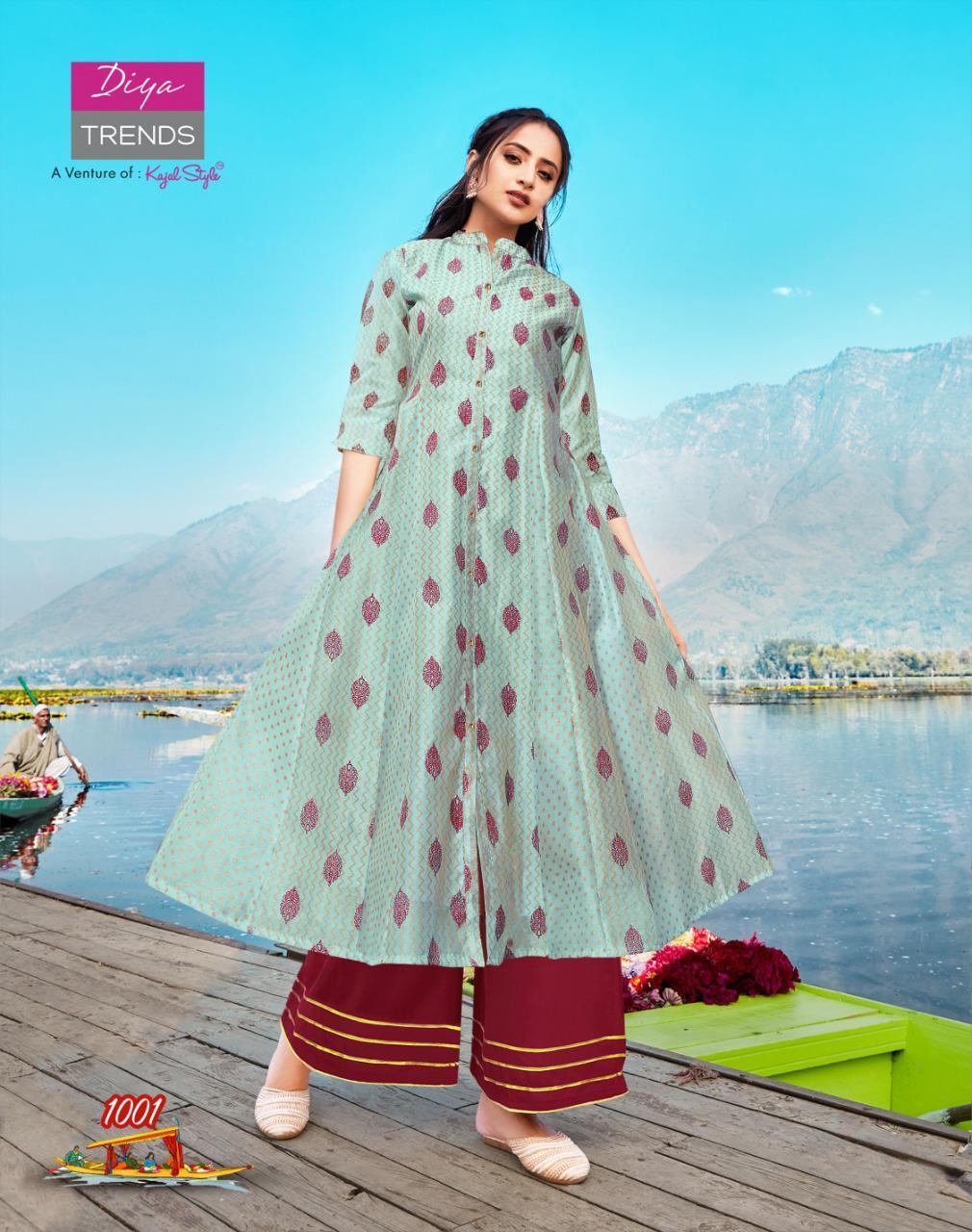 Diya Trends Fashion Festive Vol 1 by Kajal Style Kurti with Palazzo Pant Sharara Wholesale Catalog 10 Pcs 5 - Diya Trends Fashion Festive Vol 1 by Kajal Style Kurti with Palazzo Pant Sharara Wholesale Catalog 10 Pcs